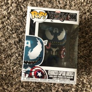 Venomized captain America funko